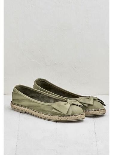 Elle Espadril Ayakkabı Yeşil